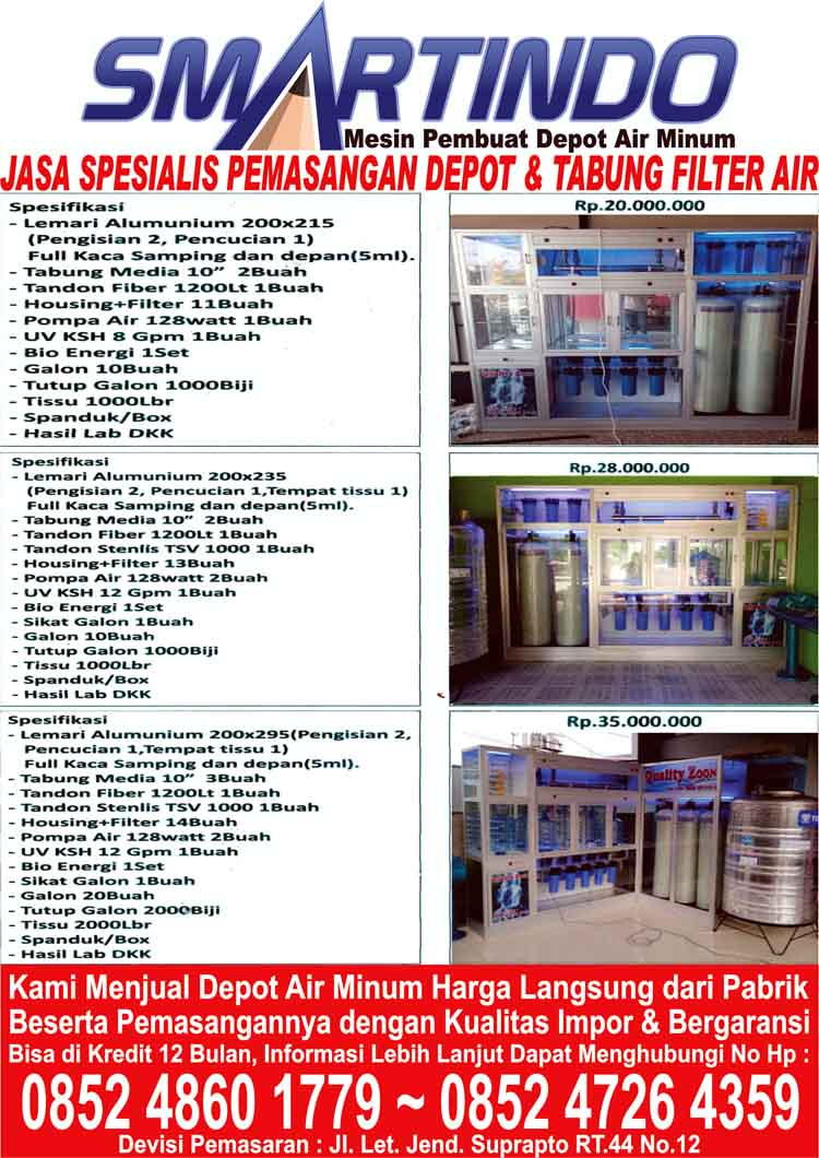 Distributor Jual Depot Air Minum Isi Ulang