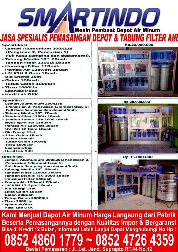 Jual Depot Filter Penyaring Air Minum Isi Ulang